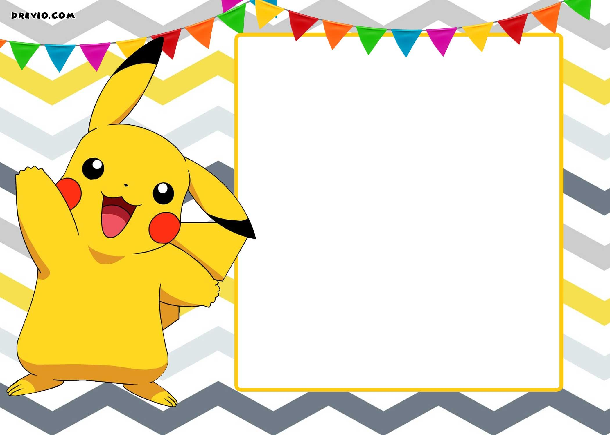 Pokemon Invitation Template Gallery Of Art Pokemon Free Printables