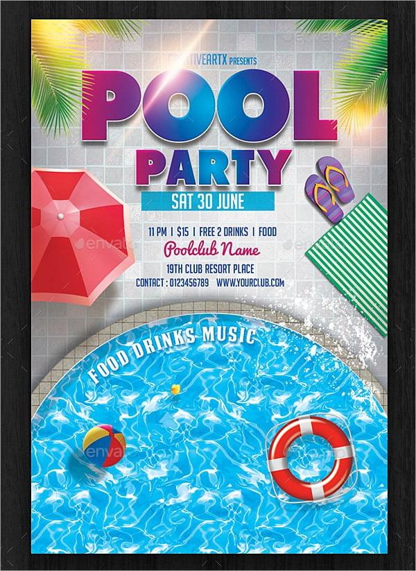 Invitation  Pool Party Invitations Templates Free