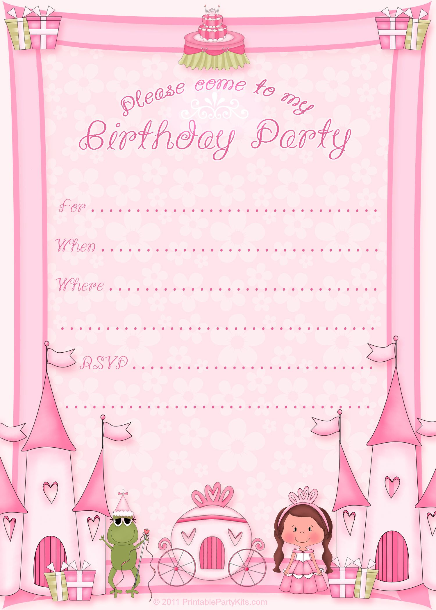 Princess Invitations Free Template Fancy With Princess Invitations