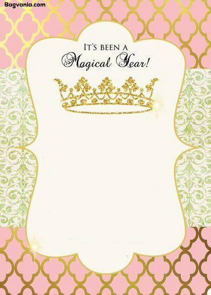 Princess Invitations Free Template Free Princess Birthday