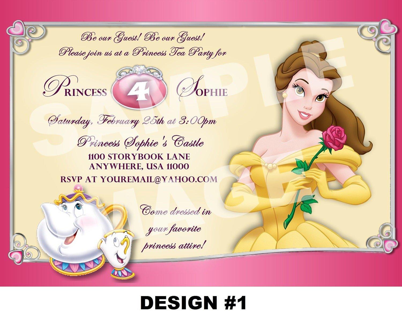 Princess Tea Party Invitations Princess Tea Party Invitations With