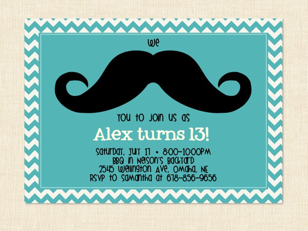 13 Years Old Birthday Party Invitations