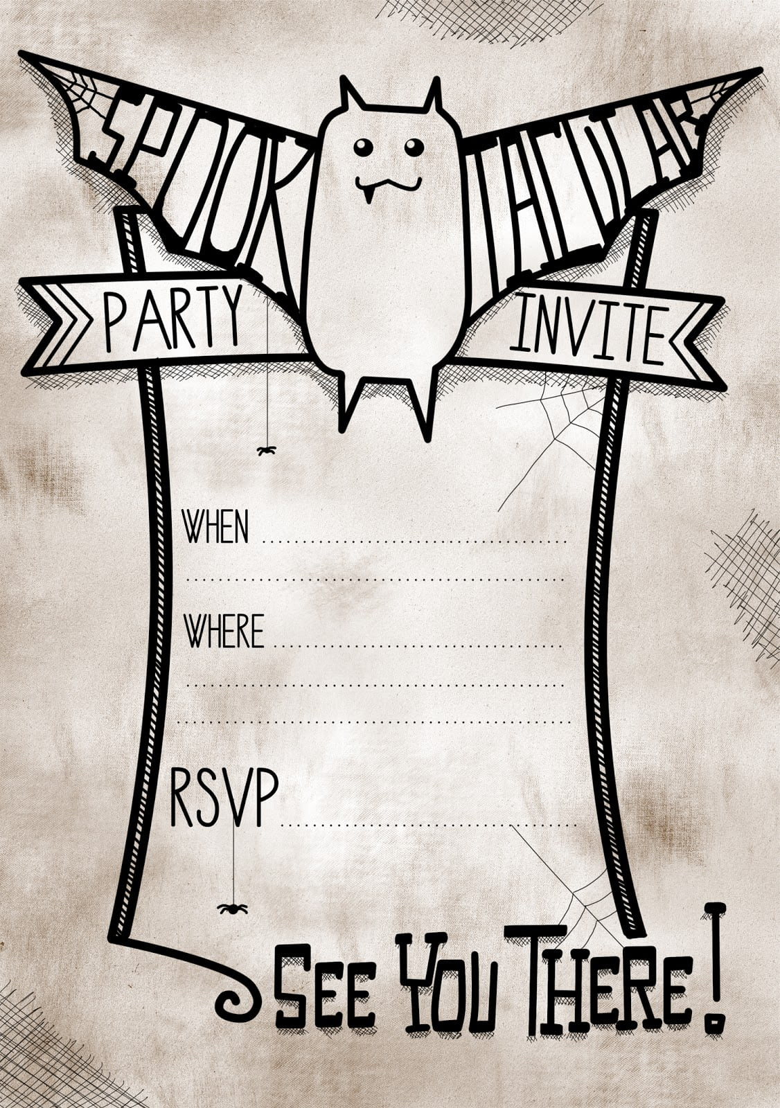 Printable Halloween Party Invitations For Kids Batinvite2