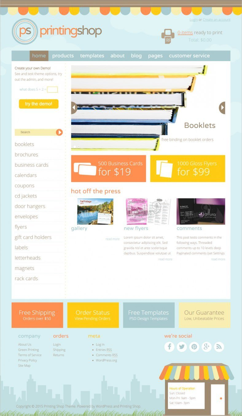 Best Print Shop Woocommerce Themes & Templates