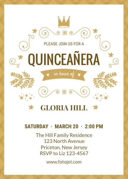 Quinceanera Invit Superb Quinceanera Invitation Templates Free