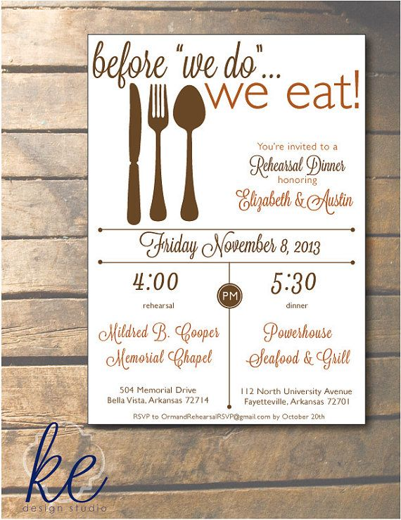 Rehearsal And Dinner Invitations