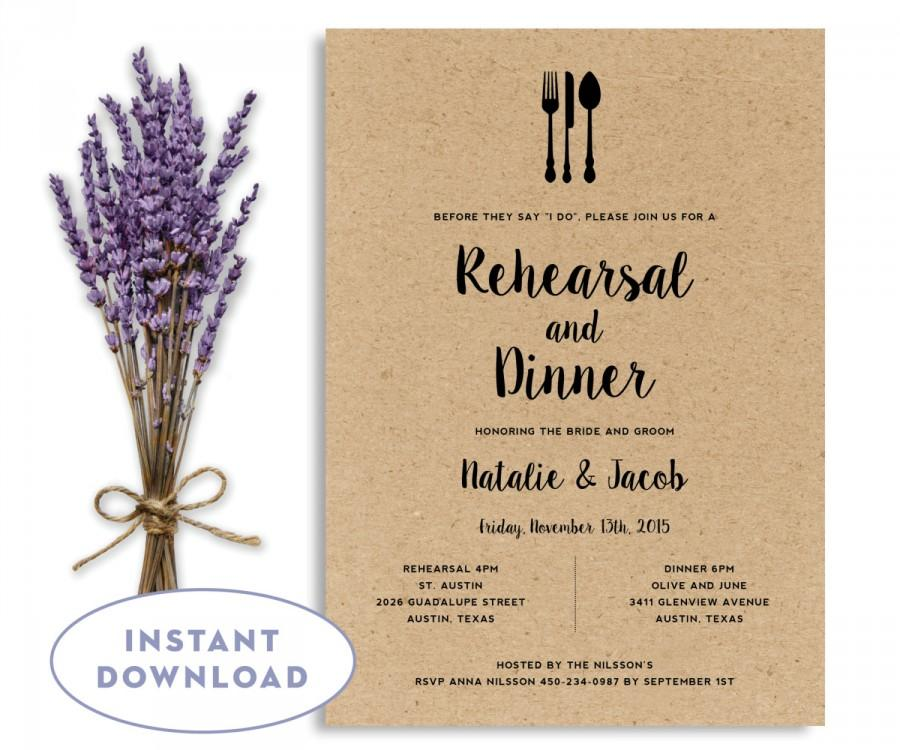 Free Wedding Rehearsal Dinner Invitation Templates For Design