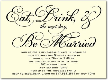 Rehearsal Dinner Invitation Template With Enchanting Appearance