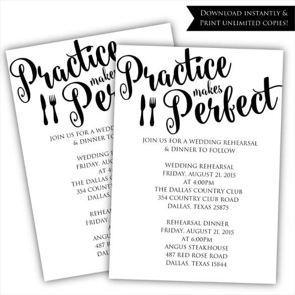 Invitation  Rehearsal Dinner Invitations Templates Free
