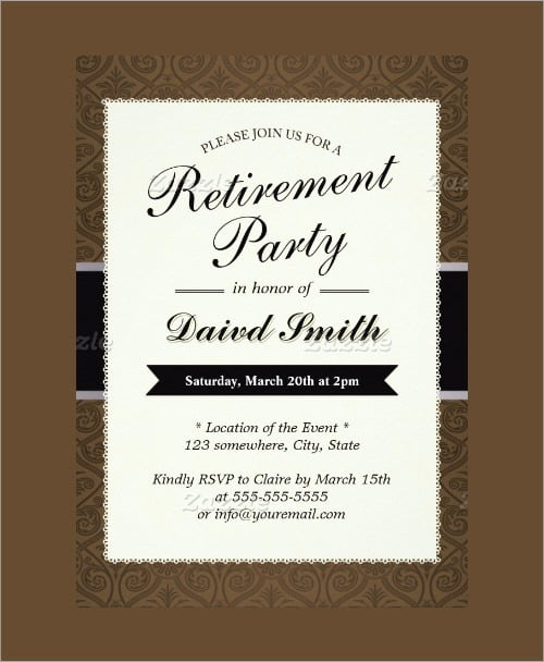 Retirement Invitation Template Free Invitations Best Collection