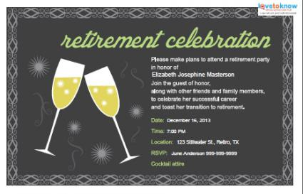 Retirement Party Invitation Template Awesome With Retirement Party