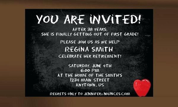 Retirement Party Invitation Template Free Download Word Trend Free