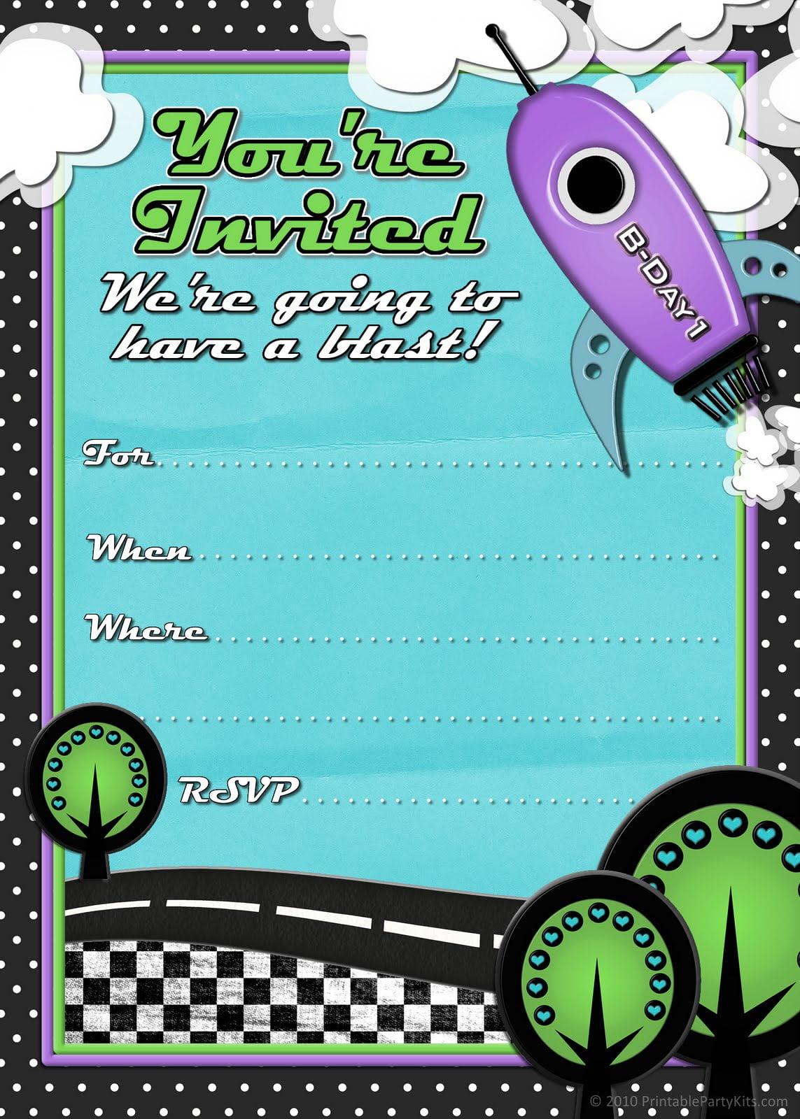 41 Printable Birthday Party Cards & Invitations For Kids To Make