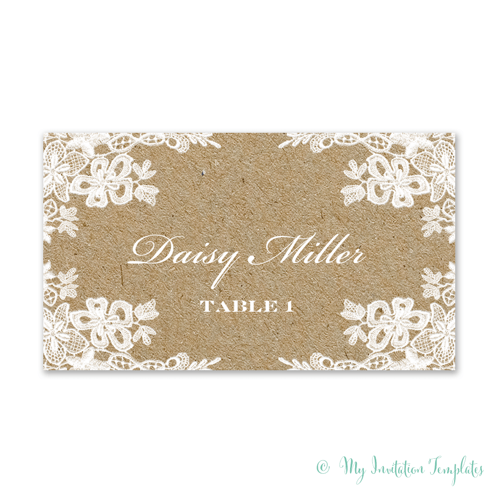 Rustic Gift Tag Template