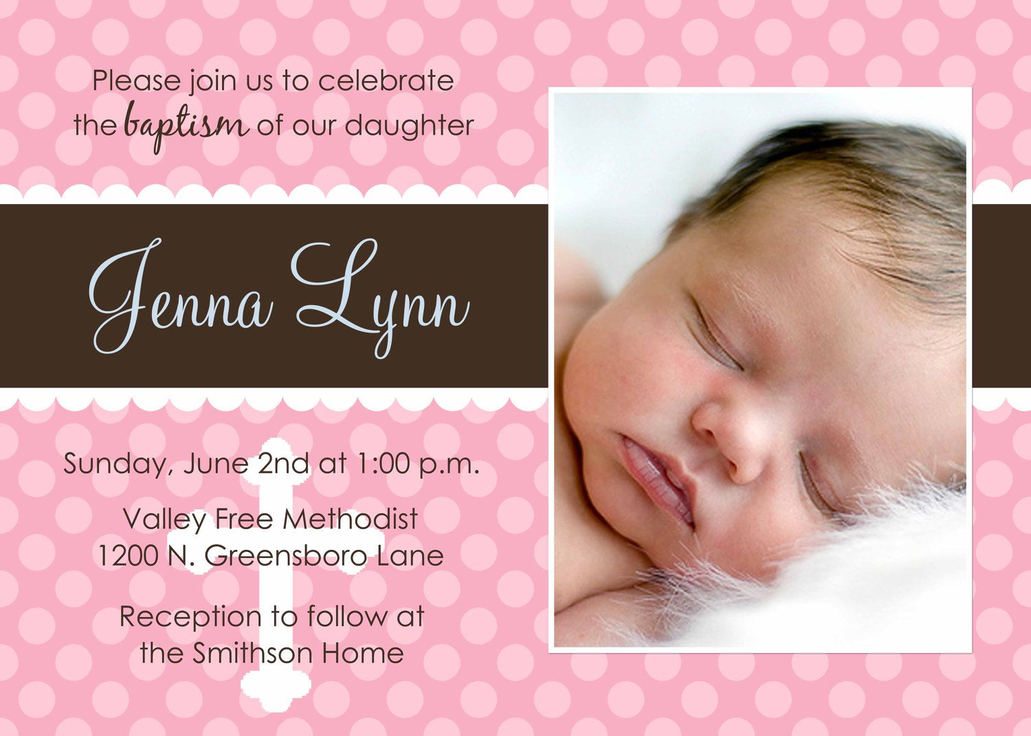 Sample Of Invitation Card For Baptism