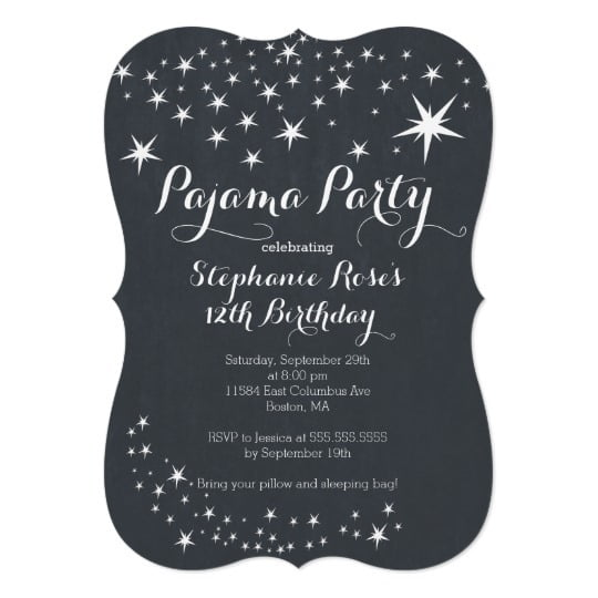 Invitation  Slumber Party Birthday Invitations