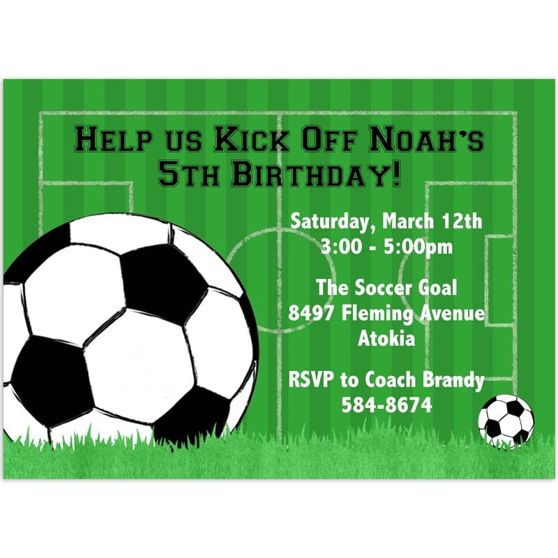 Soccer Birthday Invitation Popular Soccer Party Invitations