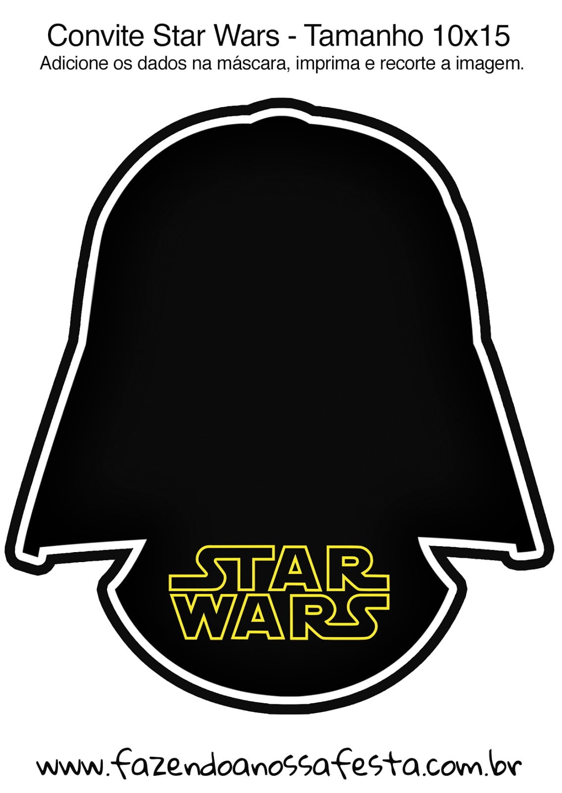 Star Wars  Free Printable Invitations