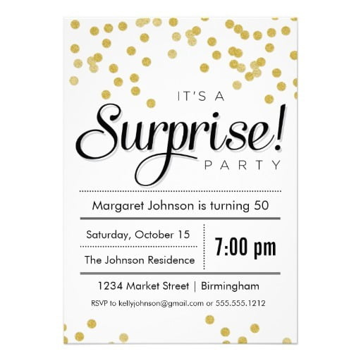 Surprise Birthday Party Invitations With A Alluring Invitations