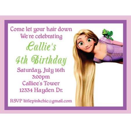 Tangled Birthday Invitation Cool Tangled Birthday Invites