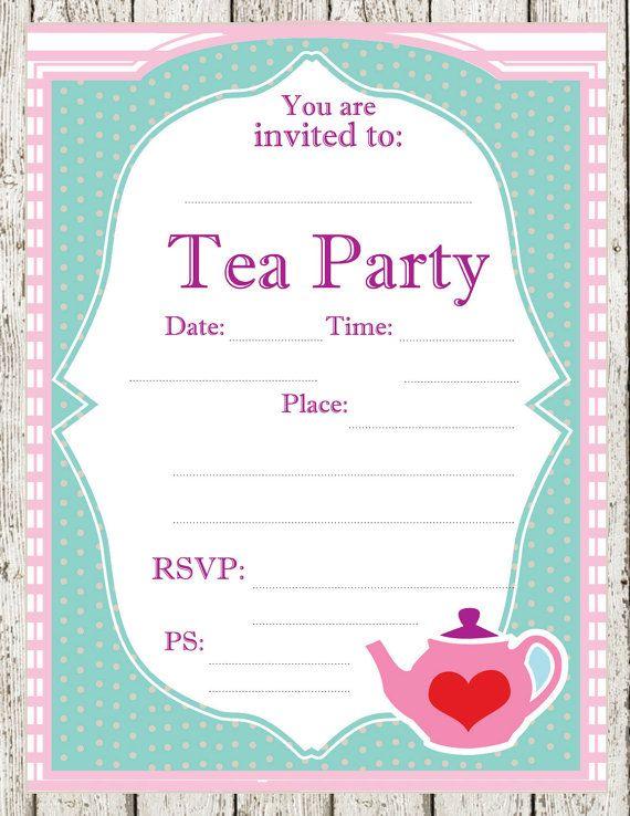 Tea Invitations Free New Free Tea Party Invitations
