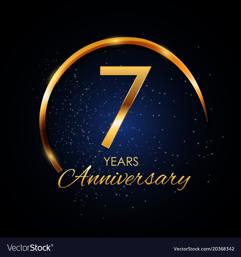 Template Logo 7 Year Anniversary Royalty Free Vector Image