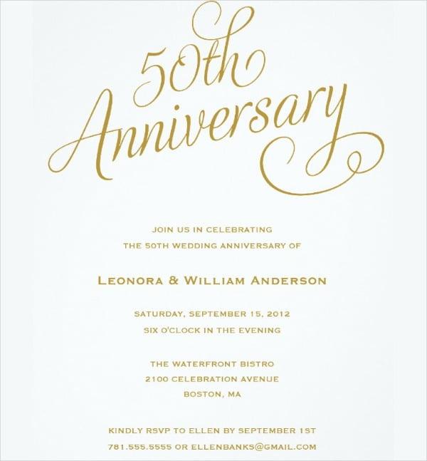 Invitation Template  50th Wedding Anniversary Invitation Templates
