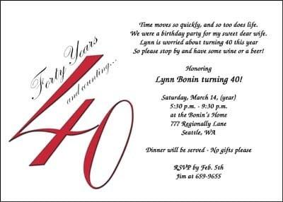Funny Birthday Invitation Wording Funny Th Birthday Party