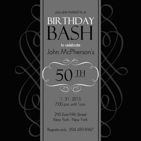 Th Party Invitations Templates Th Birthday Party Invitations