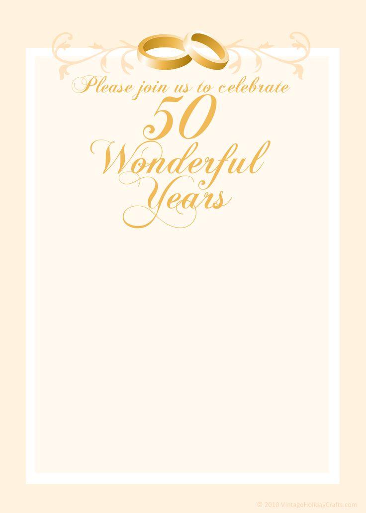 Bfbadcbfee Trend 50 Year Anniversary Invitations Templates