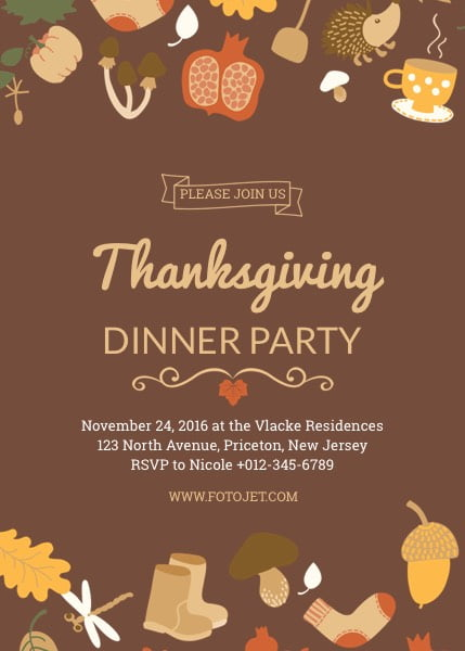 Online Thanksgiving Invitations