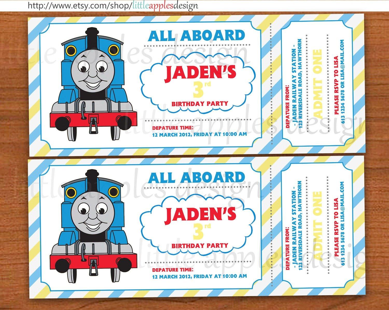 Train Party Invitation Template Beautiful Birthday Party Invites