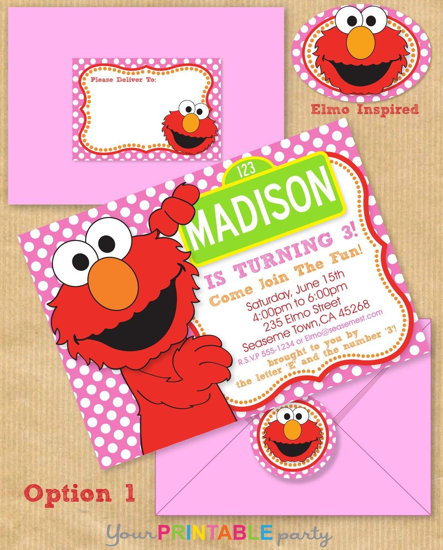 Trend Elmo Birthday Party Invitations 45 On Invitation Design