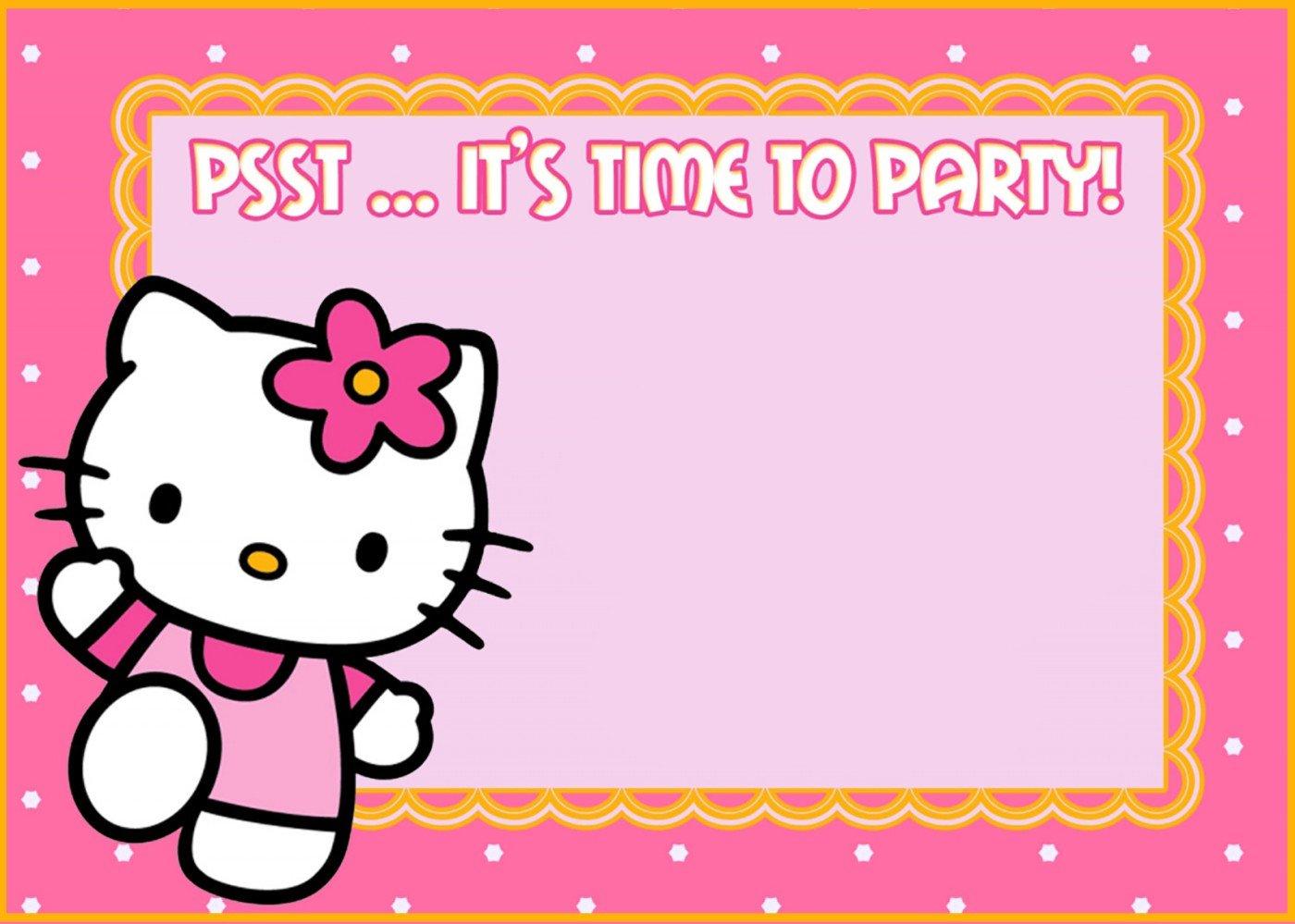 Unique Hello Kitty Party Invitations 61 In Invitations Wedding