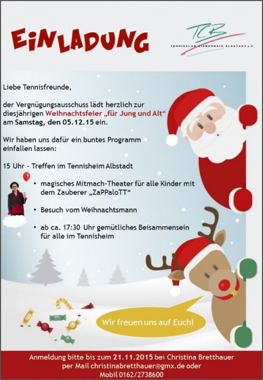 Einladungen  Vorlage Einladung Weihnachtsfeier Wanderung