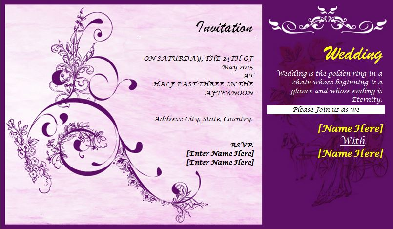 Wedding Invite Card Design