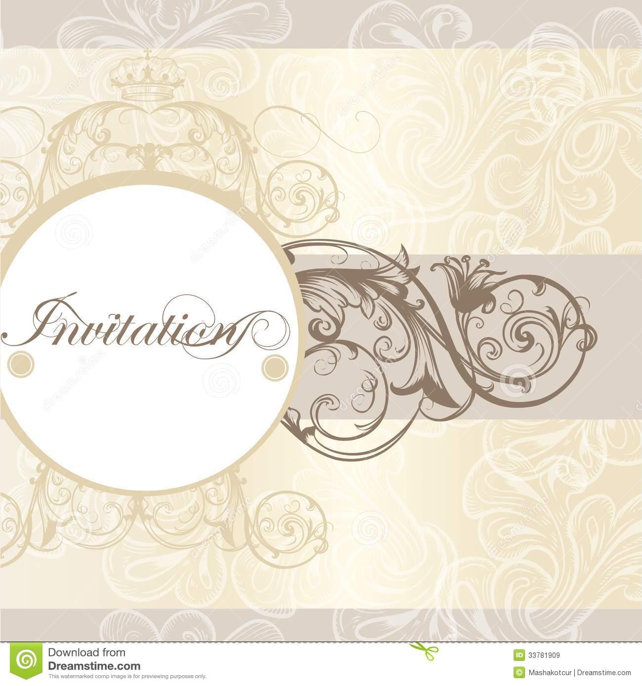Wedding Invitation Card For Design Stock Vector