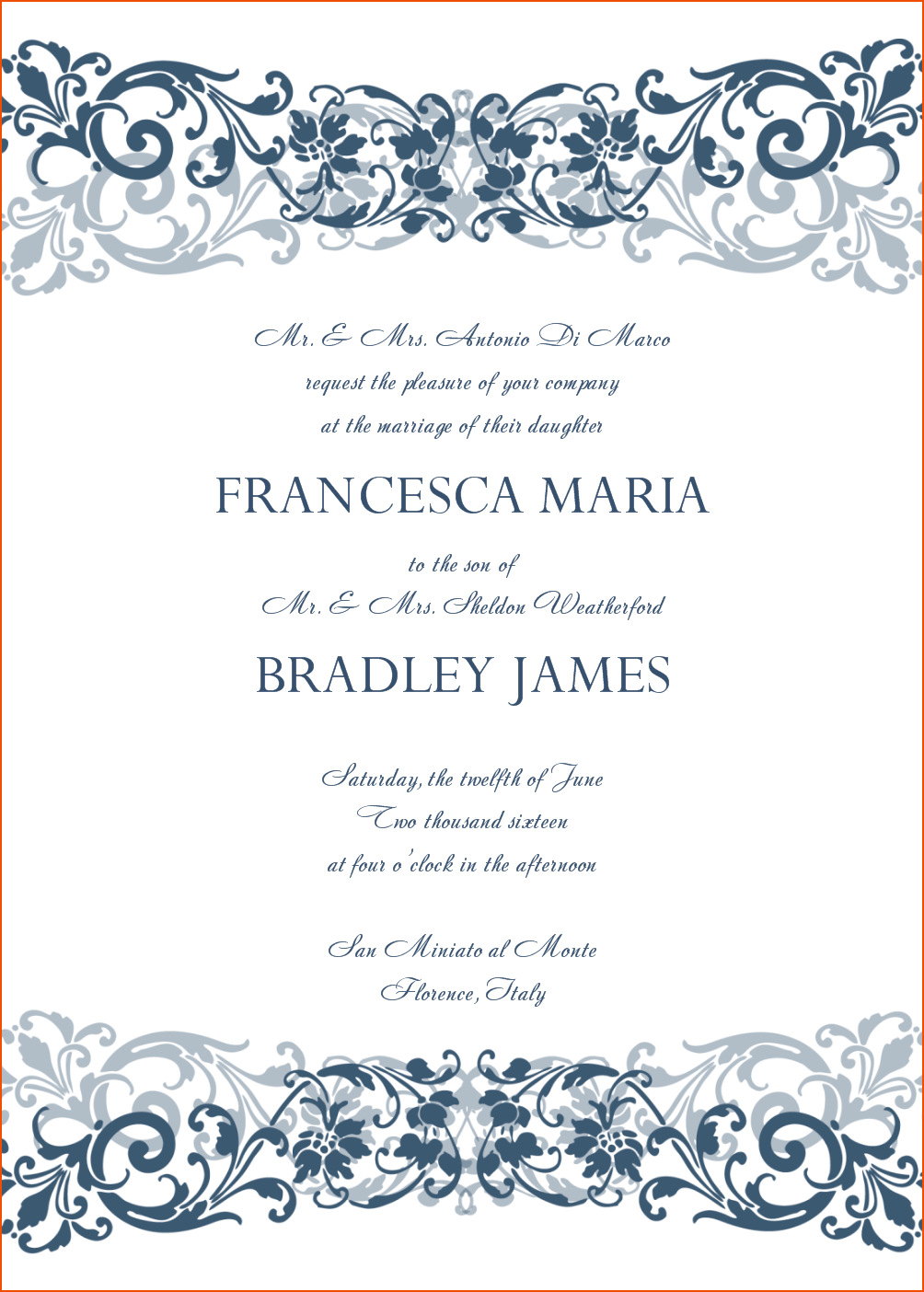 8+ Wedding Invitation Template Word