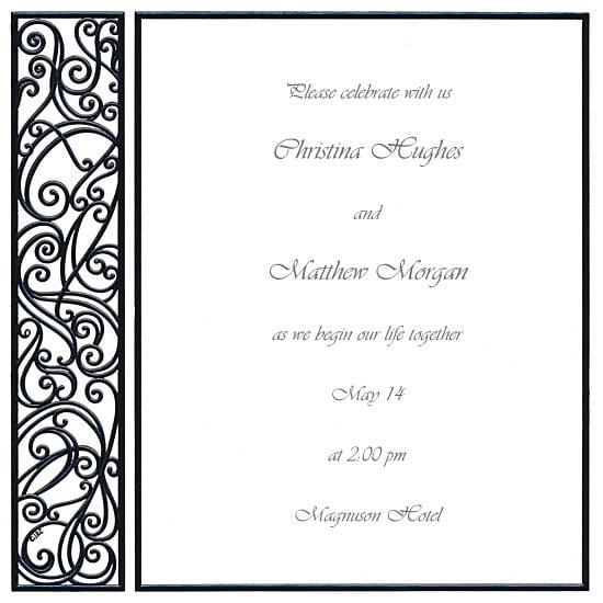 Black And White Blank Invitation Templates