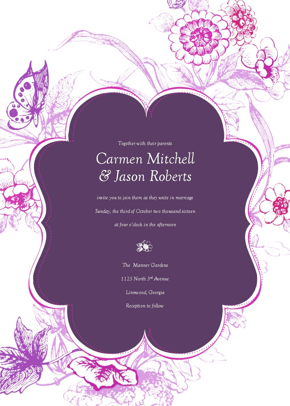 Wedding Invitations Templates Png 5