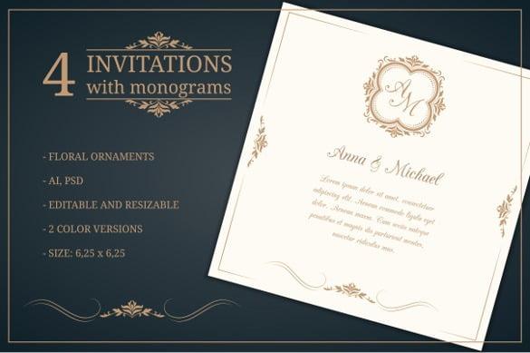 Wedding Templates Free Download Vintag Menu Template Vector