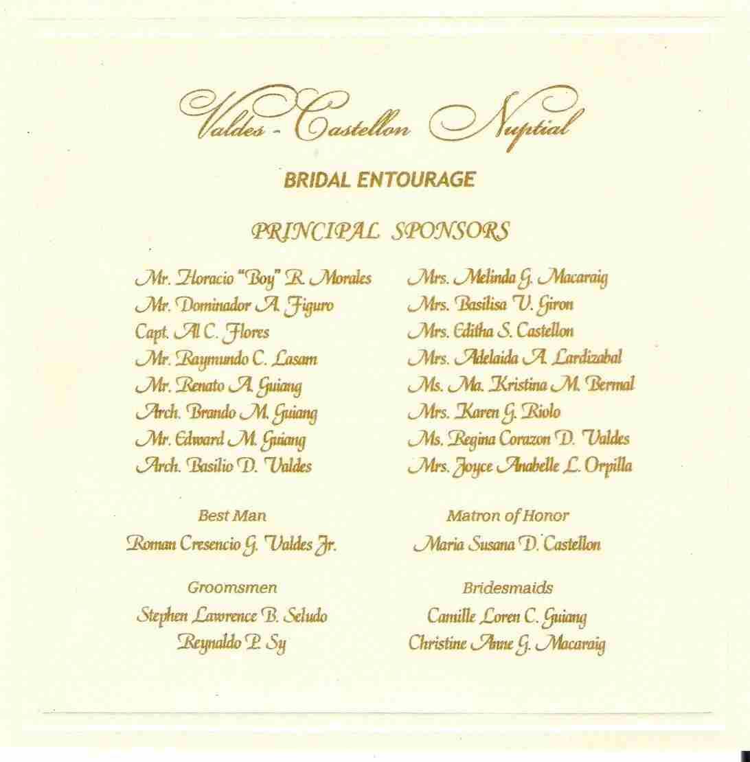 Wedding Invitations Samples Philippines