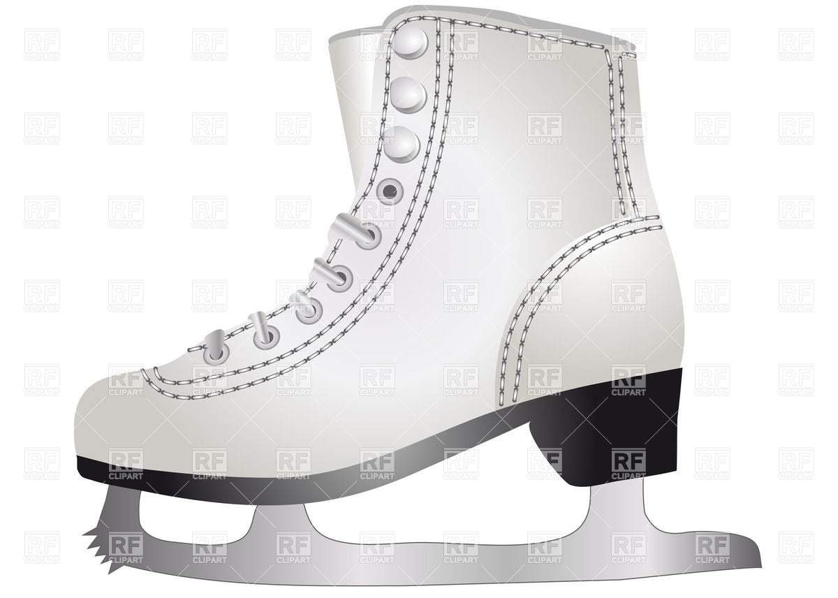 White Ice Skate Vector Image – Vector Artwork Of Sport And Leisure