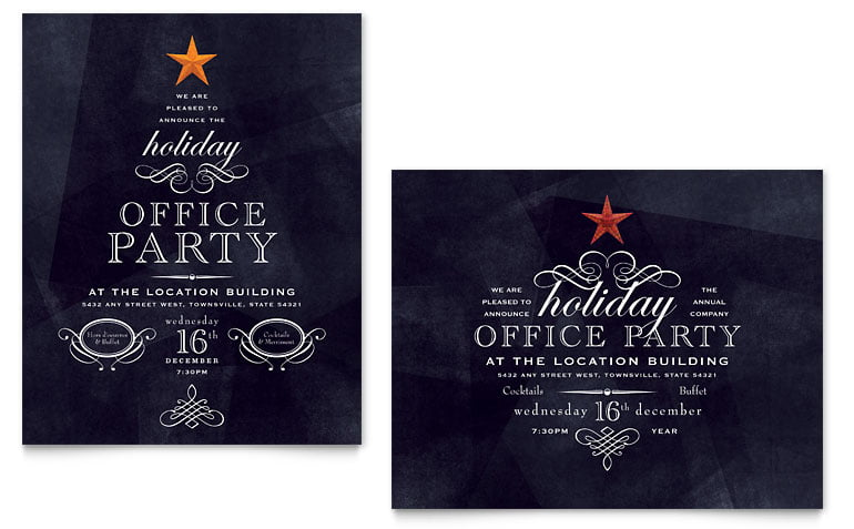 Office Christmas Invitation Templates Fresh Birthday And Party