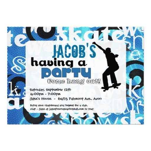 Invitation Template  Birthday Invitations For 13 Year Old Boy