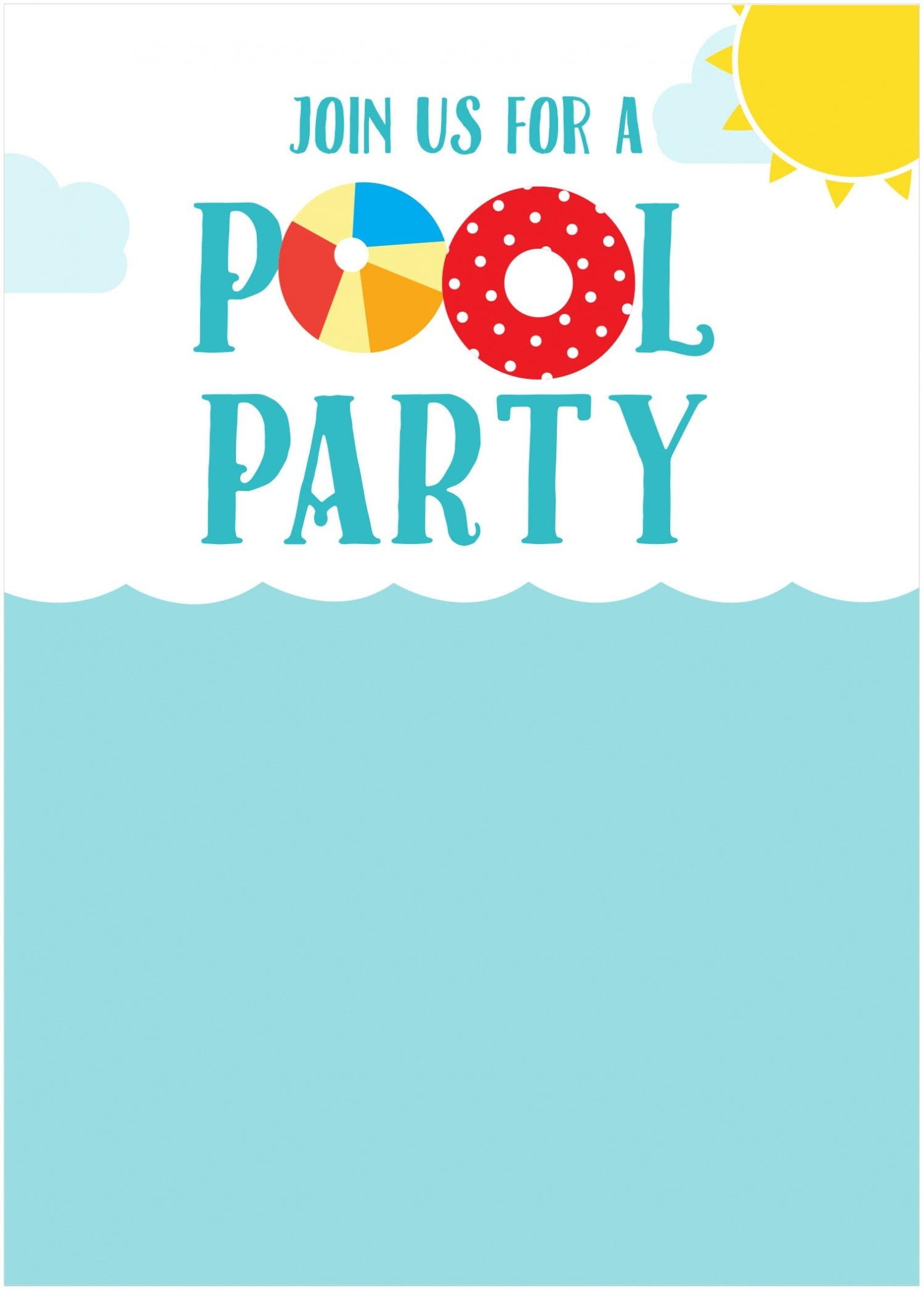 002 Pool Party Invite Template ~ Ulyssesroom