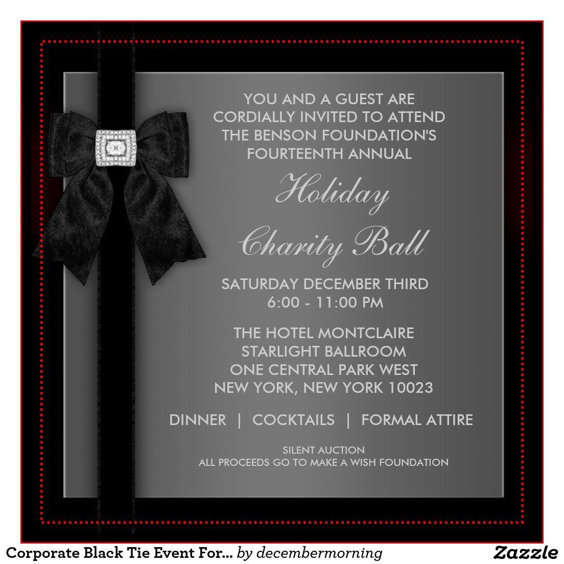 Formal Event Invitation Card Sample