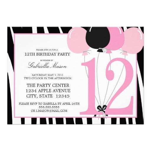 12th Birthday Invitation Wording Elegant With 12th Birthday
