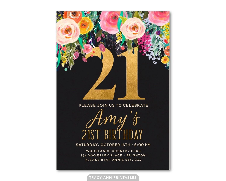 21st Birthday Invitation Templates Fresh With 21st Birthday