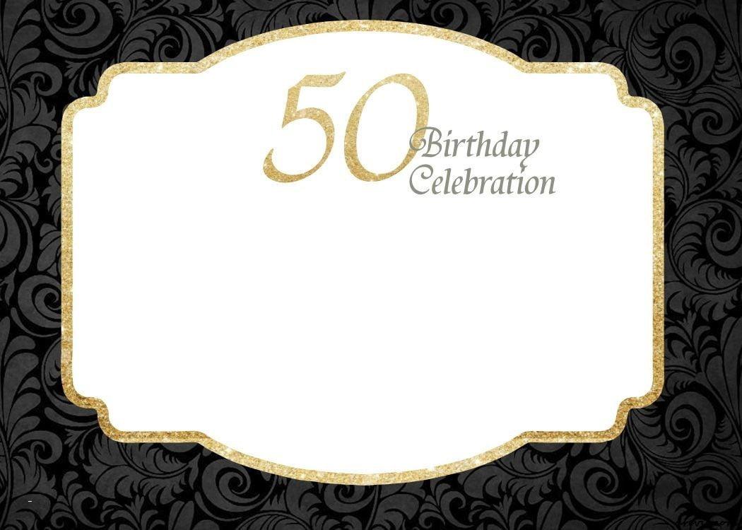 21st Birthday Invitation Templates Unique Free Printable 50th
